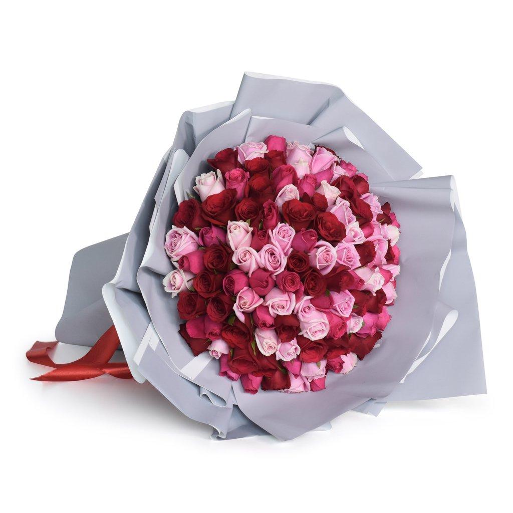 renkli karışık güller