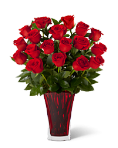 kırmızı gul vazosu