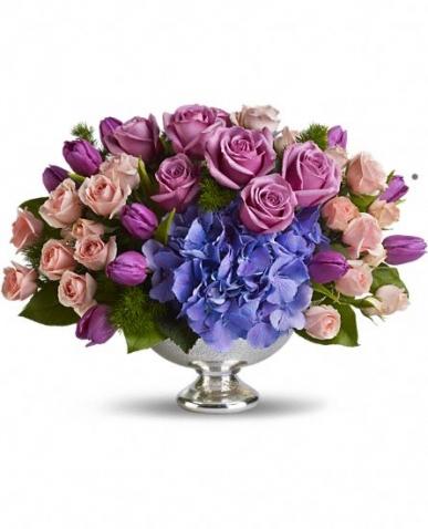 rengarenk ithal güllerden VIP çiçek tasarımı