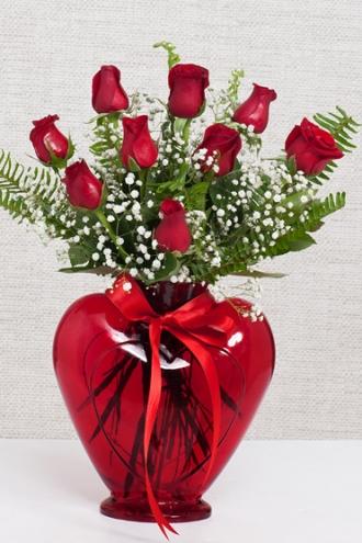 Kalpte Kırmızı Güller