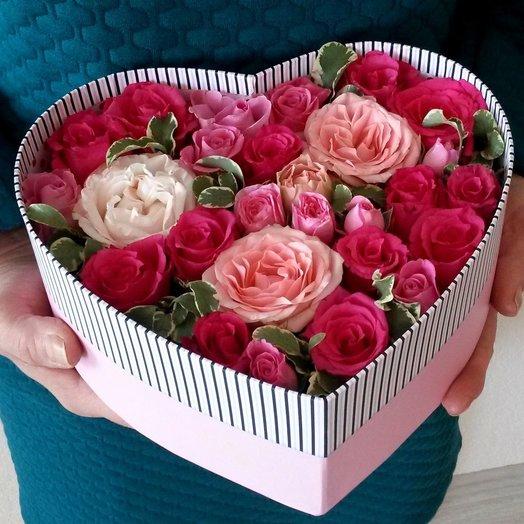 kalp kutuda renkli güller