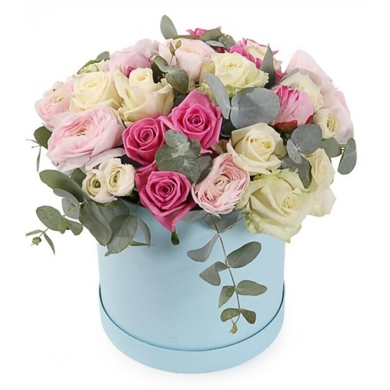 renkli kutuda renkli güller